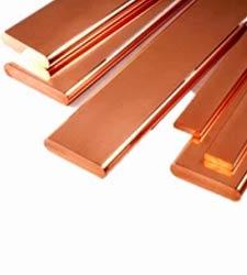 "1//4/"" x 4/"" Copper Flat Buss Bar x 4/"" Long  QTY:6"